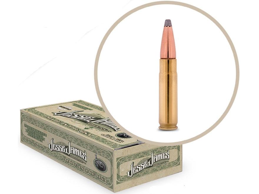 Jesse James TML Ammunition 300 AAC Blackout 150 Grain Soft Point Box of 20
