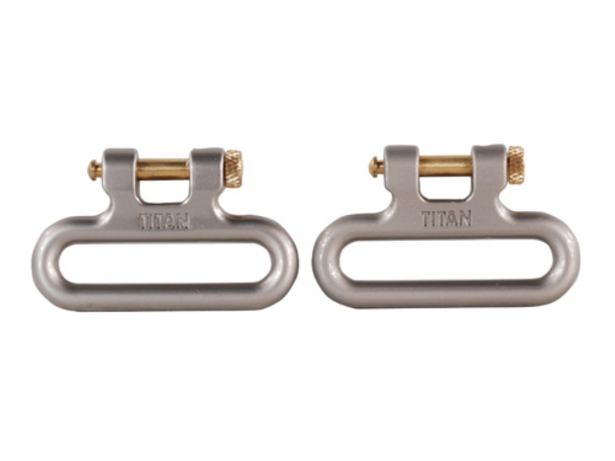 "The Outdoor Connection Titan Q-R Detachable Sling Swivels 1-1/4"" Stainless Steel (1 Pair)"