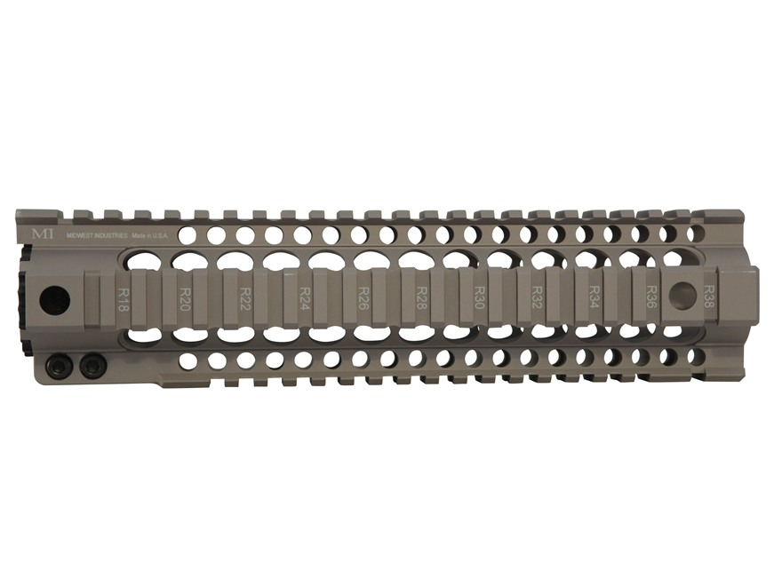 Midwest Industries Gen 2 T-Series Free Float Tube Handguard Quad Rail AR-15 Extended 10...