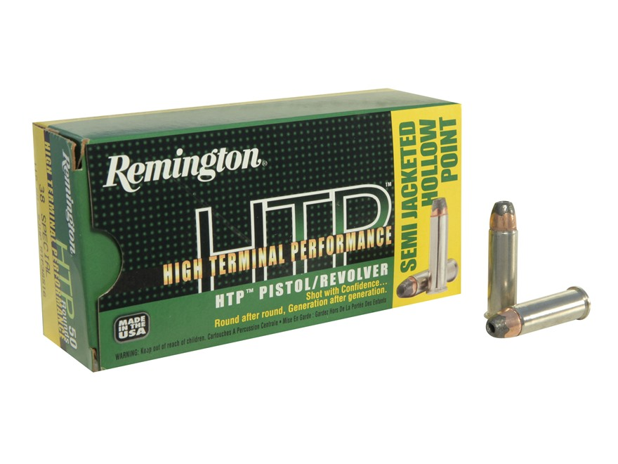 Remington High Terminal Performance Ammunition 38 Special 110 Grain Semi-Jacketed Hollo...