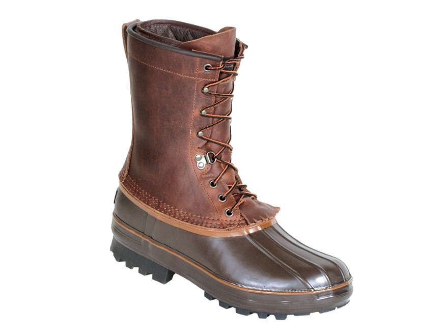 "Kenetrek Grizzly 10"" 400 Gram Insulated Waterproof Pac Boots Leather and Rubber Brown M..."
