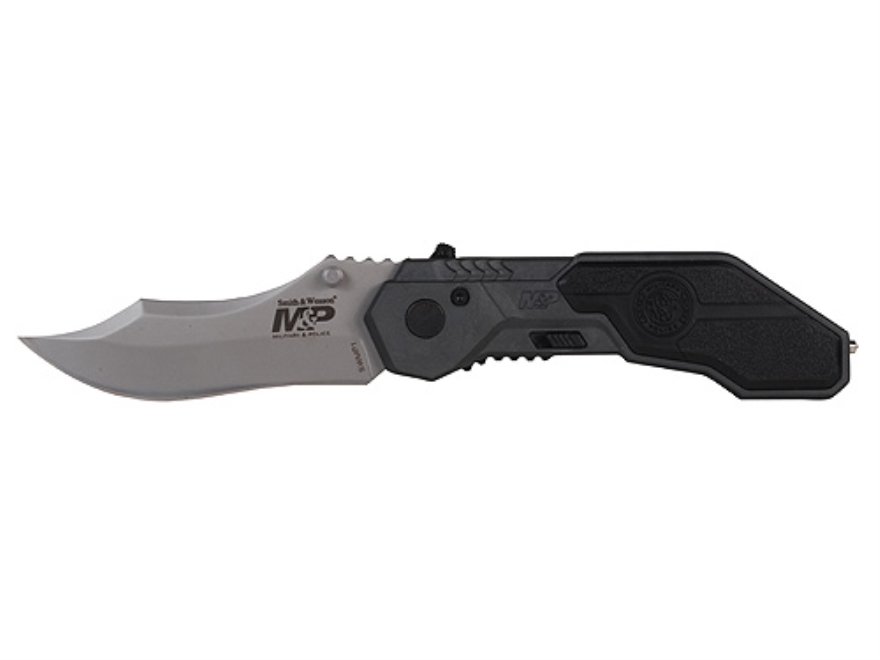 """Smith & Wesson M&P Folding Pocket Knife 2.875"""" Drop Point 4034 Stainless Steel Blade Al..."""