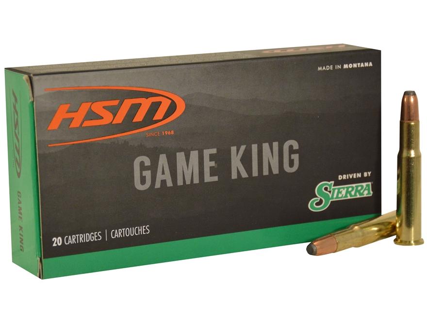 HSM GameKing Ammunition 30-30 Winchester 150 Grain Sierra Pro-Hunter Soft Point Boat Ta...