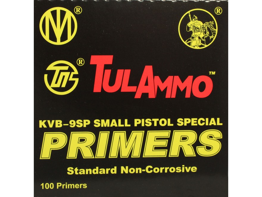 TulAmmo Small Pistol 9x19 NATO Primers Case of 5000 (5 Boxes of 1000)
