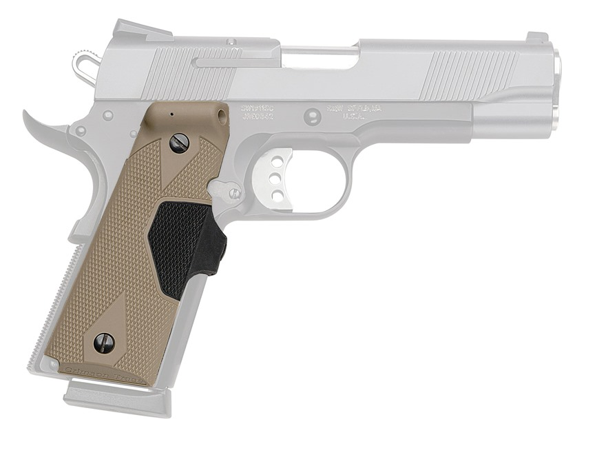 Crimson Trace Lasergrips 1911 Government, Commander Front Activation Polymer Desert Tan...