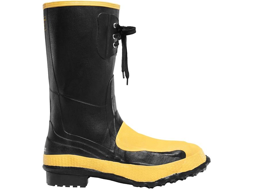 "LaCrosse Meta Pac 12"" Waterproof Steel Toe Work Boots Rubber Black Men's"