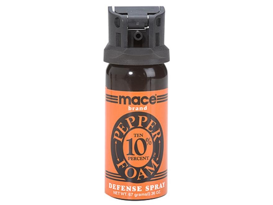 Mace Brand Pepper Foam Large Pepper Spray 67 Gram Aerosol 10% OC Foam Plus UV Dye Orange