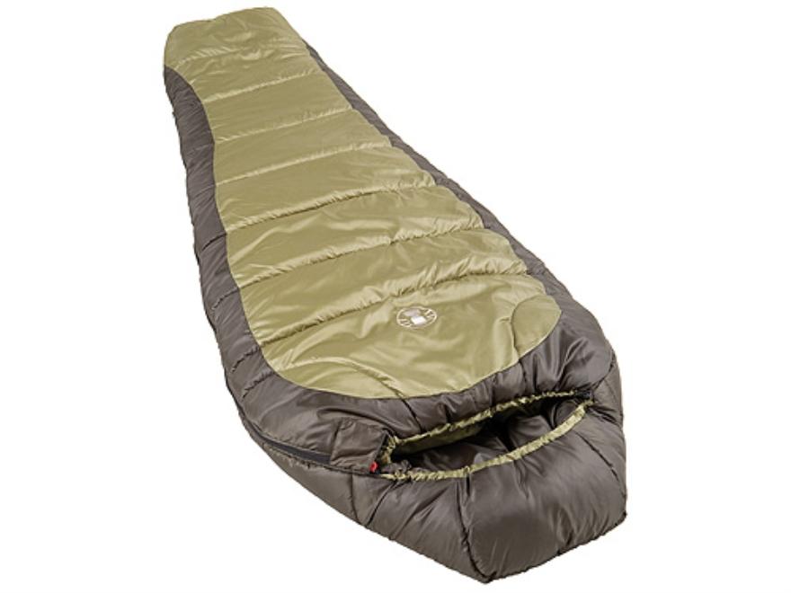 Coleman North Rim 0 Degree Mummy Sleeping Bag 32 x 82 Polyester Olive Drab and Gray