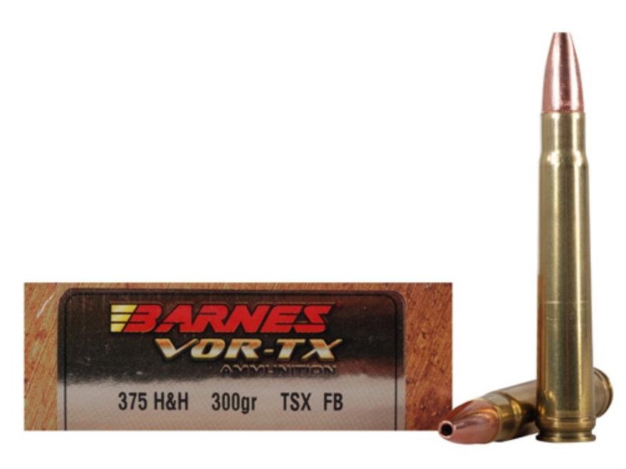 Barnes Vor Tx Safari Ammo 375 H Amp H Mag 300 Grain Mpn 22014