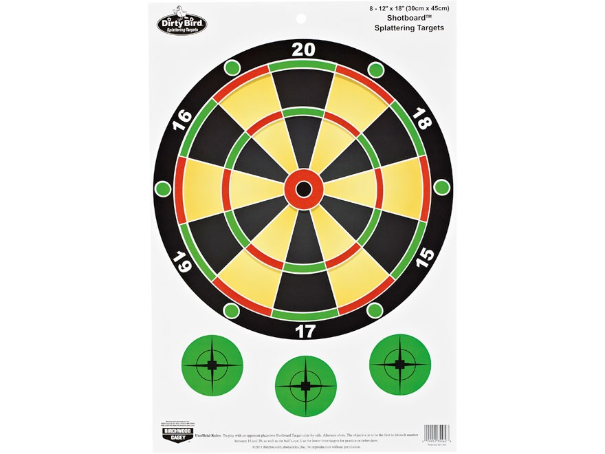 "Birchwood Casey PREGAME Shotboard Target 12"" x 18"" Pack of 8"