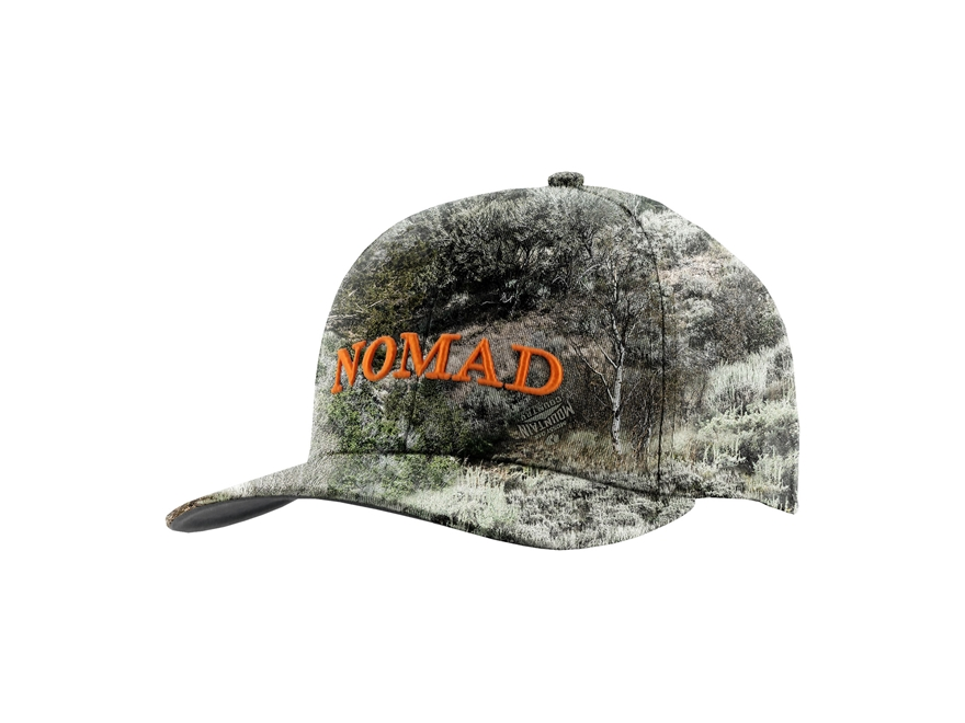 NOMAD Camo Snap Back Logo Cap Polyester Mossy Oak Mountain Country Camo