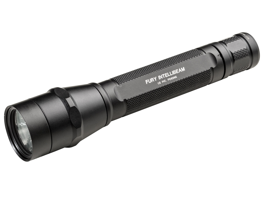 Surefire P3X Fury with IntelliBeam Flashlight LED with 3 CR123A Batteries Aluminum Black
