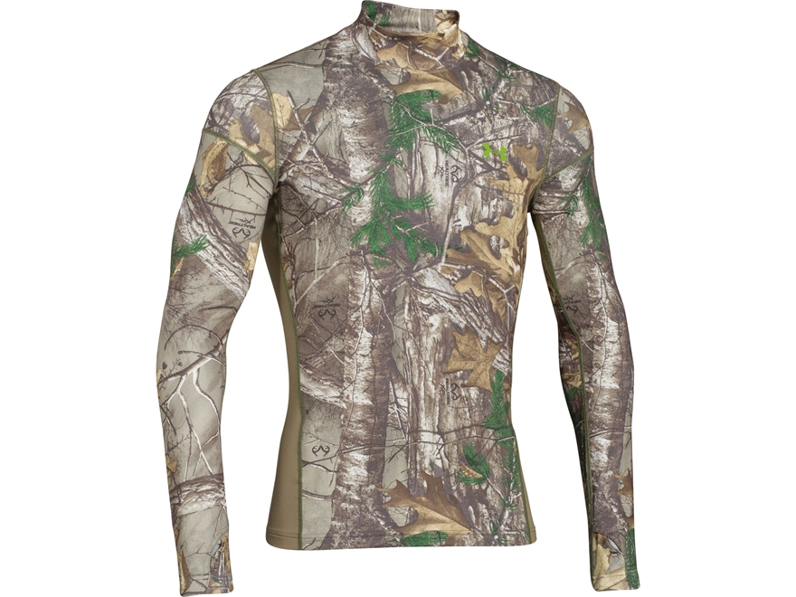 Under Armour Men's ColdGear Infrared Scent Contol Tevo Mock Shirt Long Sleeve Polyester