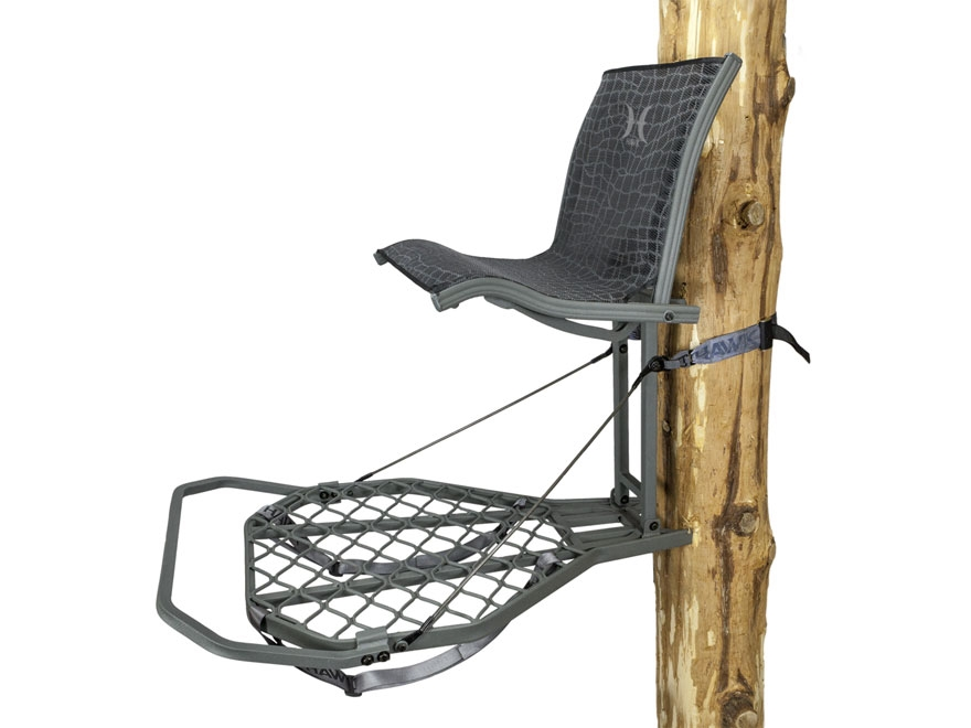 Hawk Helium Kickback Hang On Treestand Aluminum Gray