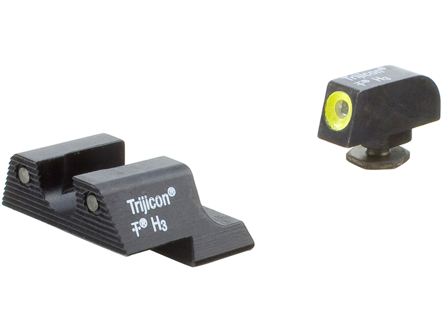 Trijicon HD Night Sight Set Glock 42, 43 Steel Matte 3-Dot Tritium Green with Front Dot...