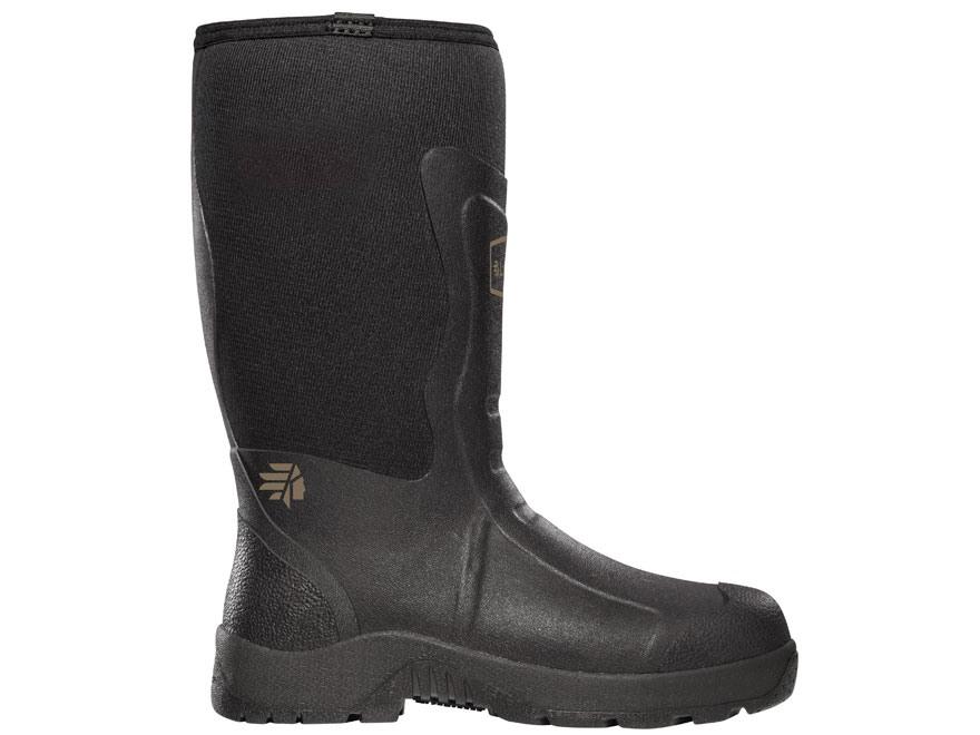 "LaCrosse Mudlite 12"" Waterproof Uninsulated Hunting Boots Rubber and Neoprene Black Men's"