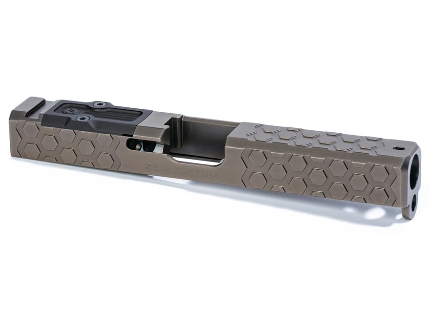 ZEV Technologies Hex Cut Signature Slide with Trijicon RMR Red Dot Sight Cut and Slide ...