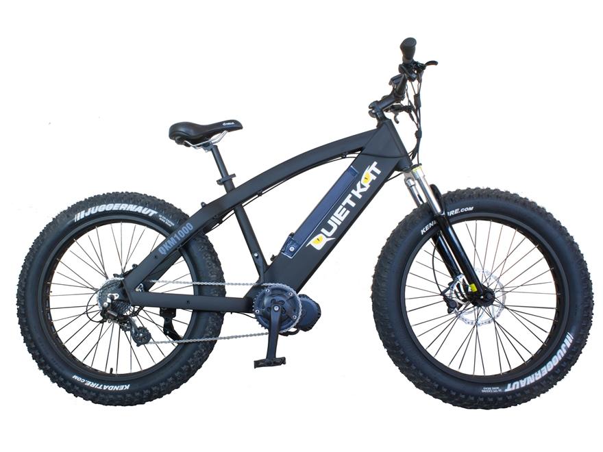 QuietKat 1000W Motorized FatKat Bike with External Motor and Chain Drive Black