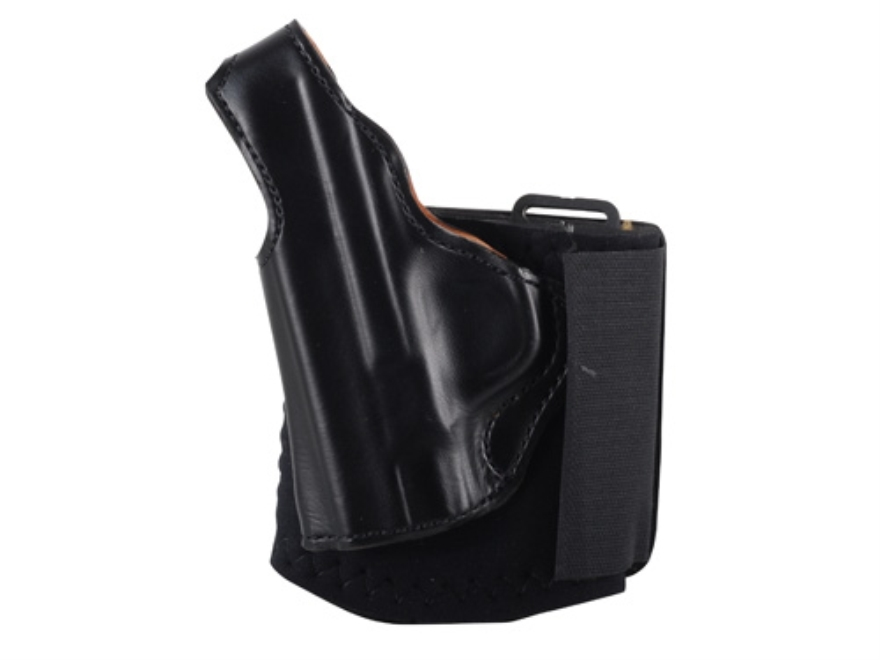 DeSantis Die Hard Ankle Holster Left Hand Glock 43 Leather Black
