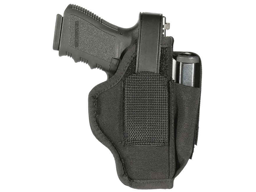 "BLACKHAWK! Sportster Belt Holster with Magazine Pouch Ambidextrous Large Auto 4-1/2"" to..."