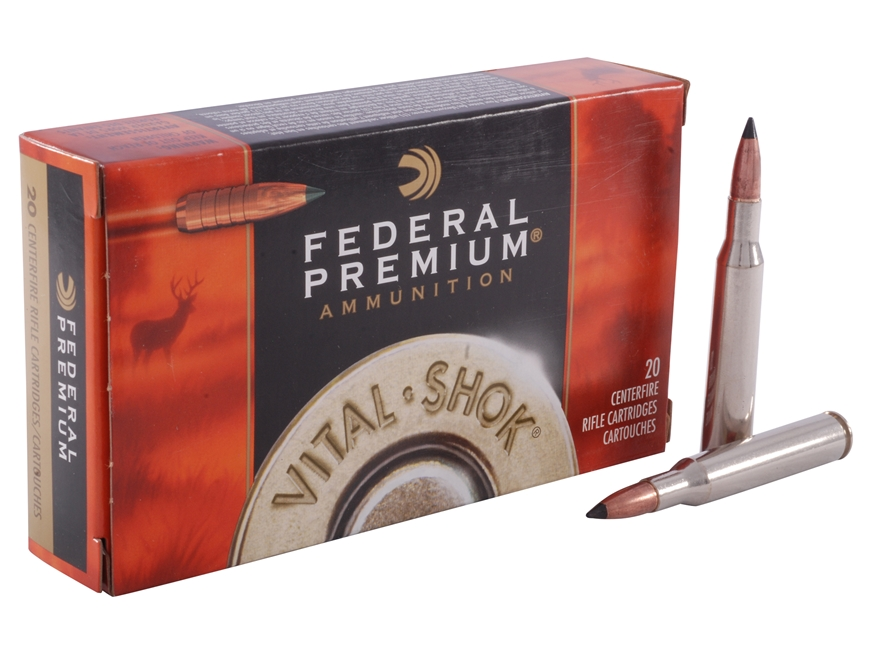 Federal Premium Vital-Shok Ammunition 270 Winchester 130 Grain Trophy Copper Tipped Boa...