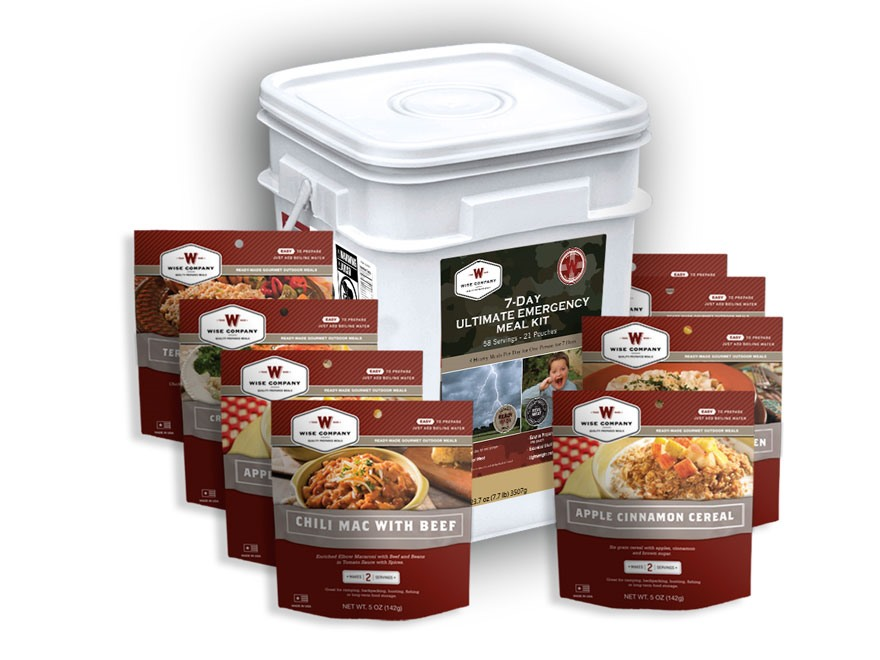 Wise Food 7-Day Ultimate Emergency Meal Kit Freeze Dried Food