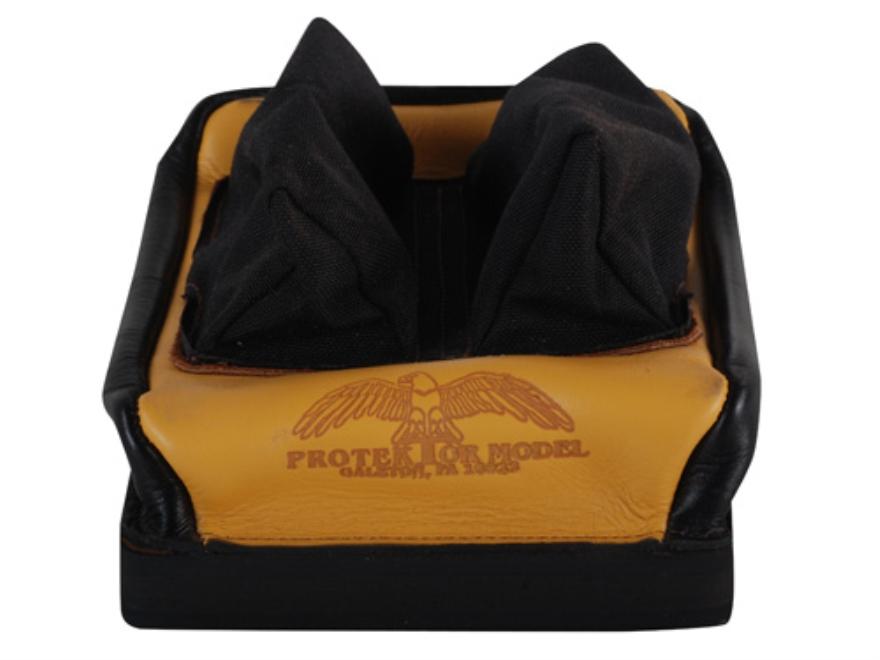 Protektor Custom Bumble Bee Dr Rabbit Ear Rear Shooting Rest Bag Cordura and Leather Ta...