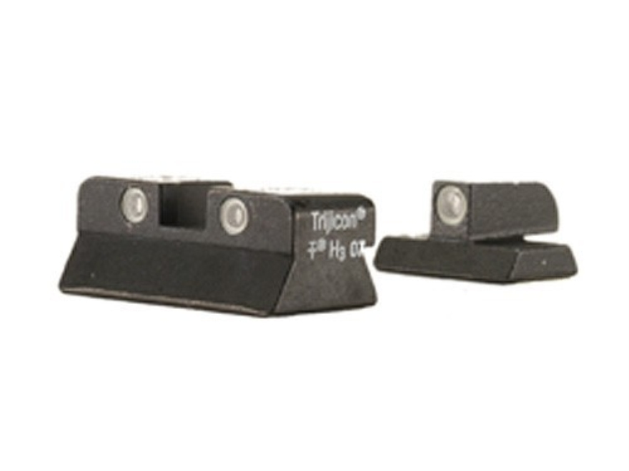 Trijicon Night Sight Set Browning Hi-Power Steel Matte 3-Dot Tritium Green