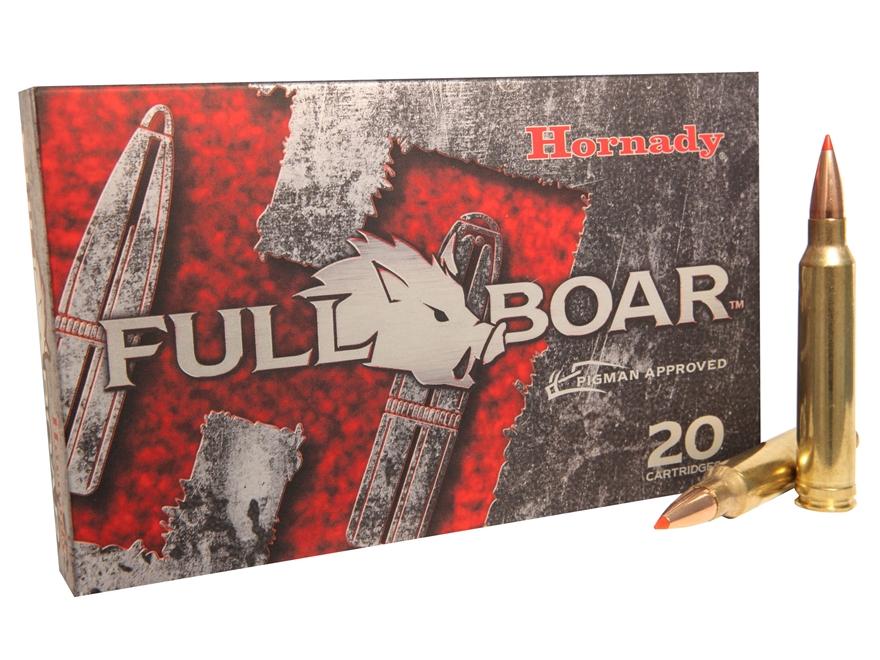 Hornady Full Boar Ammunition 300 Winchester Magnum 165 Grain GMX Boat Tail Lead-Free Bo...