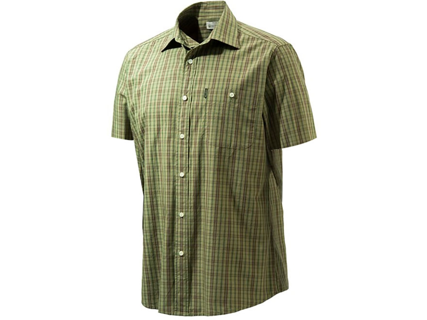 Beretta Men's Drip Dry Shirt Short Sleeve Cotton