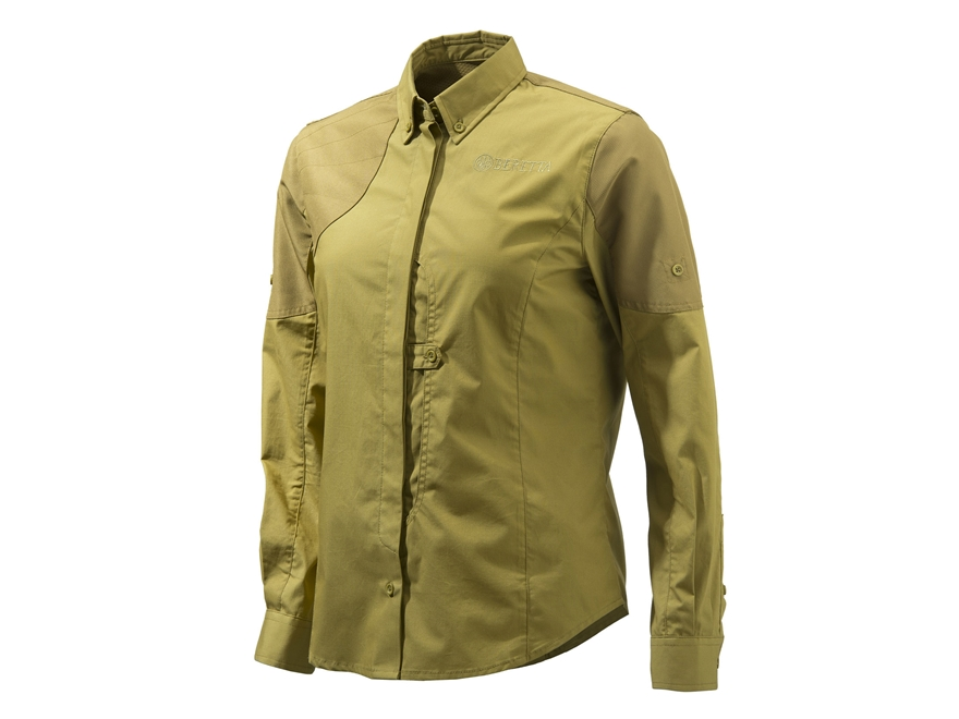 Beretta Women's American Upland Front Load Shooting Shirt Polyester Light Brown