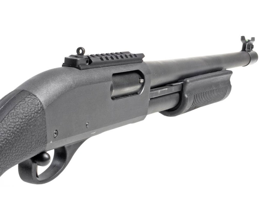 XS Shot Rail Picatinny Rail with Rear Sight, Barrel Band Tritium Front Sight Remington ...