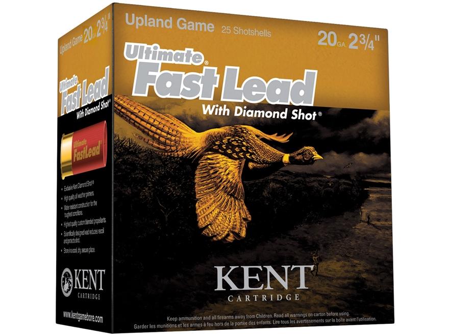 "Kent Cartridge Ultimate Fast Lead Diamond Shot Upland Ammunition 20 Gauge 2-3/4"" 1 oz #..."