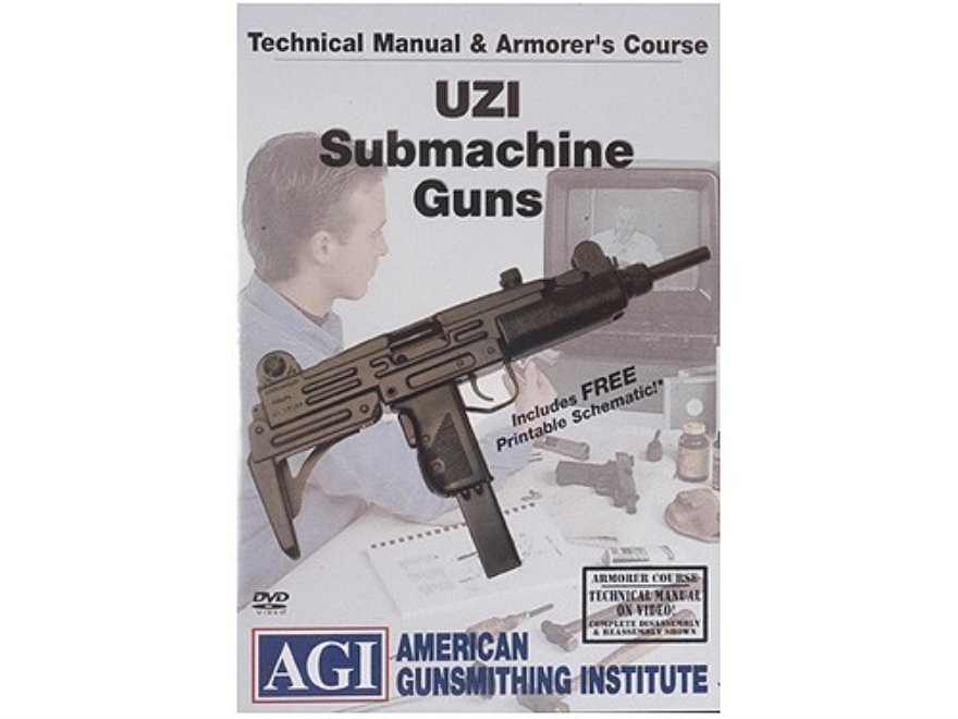 "American Gunsmithing Institute (AGI) Technical Manual & Armorer's Course Video ""Uzi"" DVD"