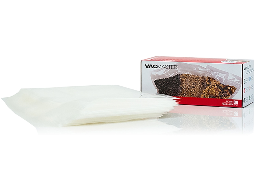 "VacMaster 11.5"" x 14"" Gallon Size Zipper Bag Pack of 30"