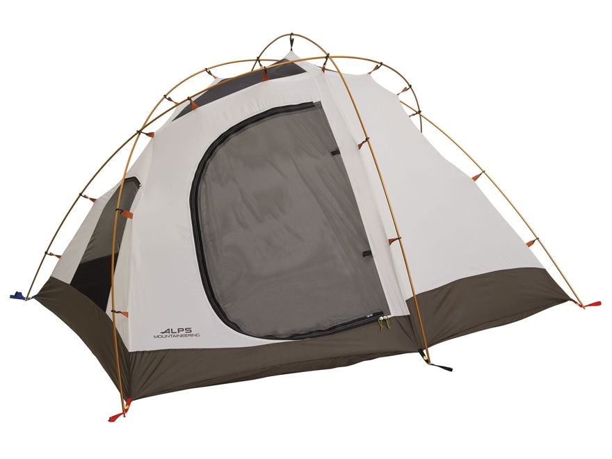 "ALPS Mountaineering Extreme 3 Dome Tent 96"" x 80"" x 50"" Polyester Brown and Orange"