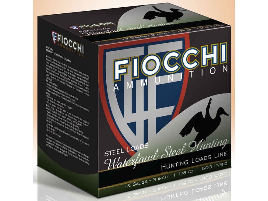 "Fiocchi Speed Steel Ammunition 12 Gauge 3"" 1-1/8 oz #6 Non-Toxic Steel Shot"