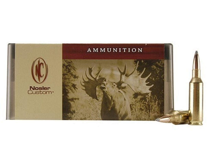 Nosler Custom Ammunition 7mm Remington Short Action Ultra Magnum 150 Grain Partition Sp...