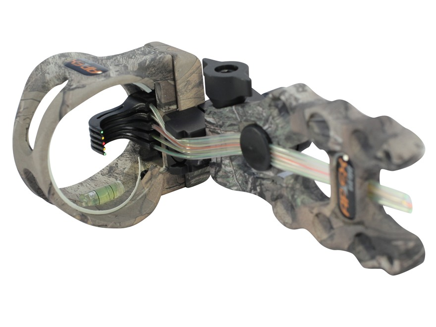 "Apex Gear Accu-Strike Pro 5 Light 5-Pin Bow Sight .019"" Diameter Pins Aluminum Realtree..."