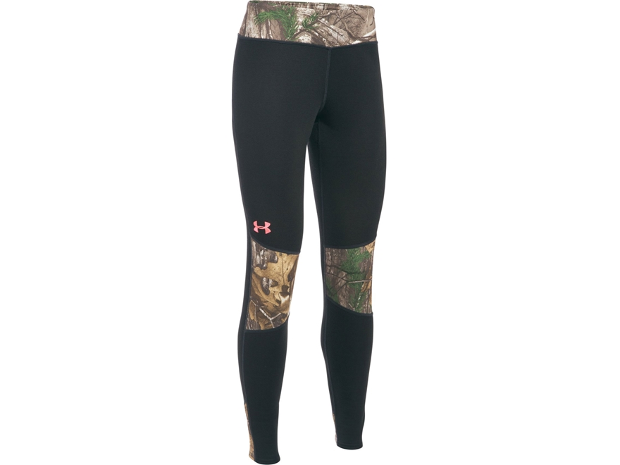Under Armour Women's UA Extreme Base Layer Pants Polyester Anthracite and Realtree Xtra...