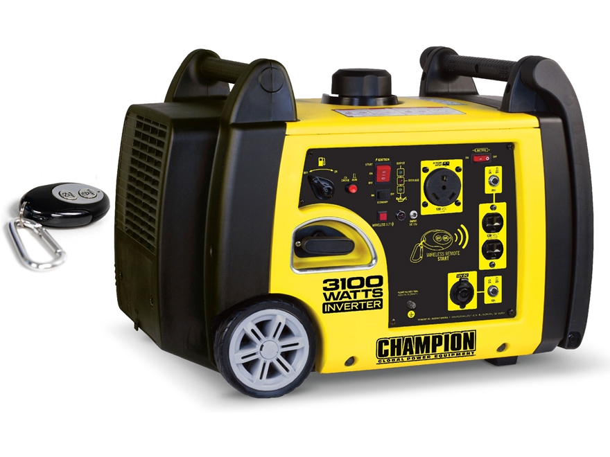 Champion 2800/3100 Watt Gas Powered Inverter Generator with Remote Start