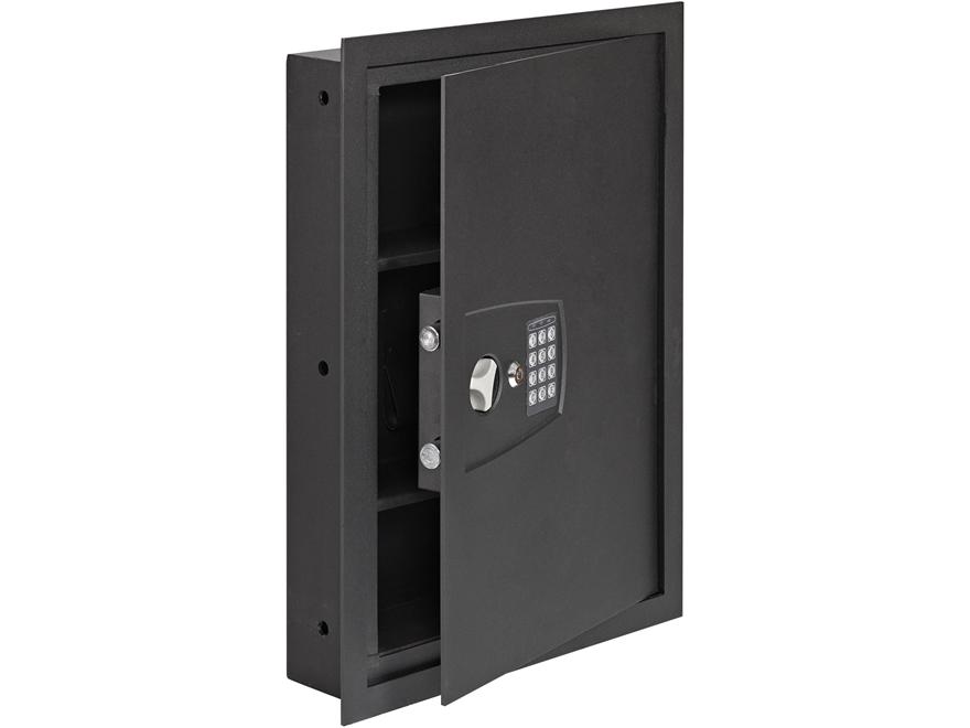 SnapSafe In Wall Safe Digital Lock Matte Black