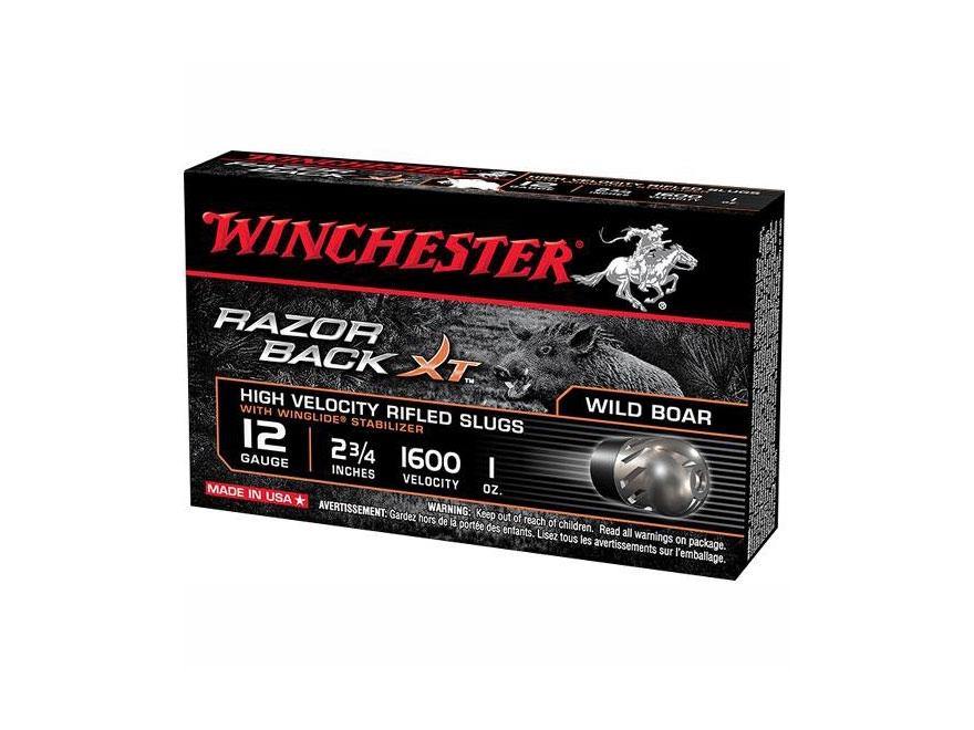 "Winchester Razorback XT Ammunition 12 Gauge 2-3/4"" 1 oz Segmenting Slug"