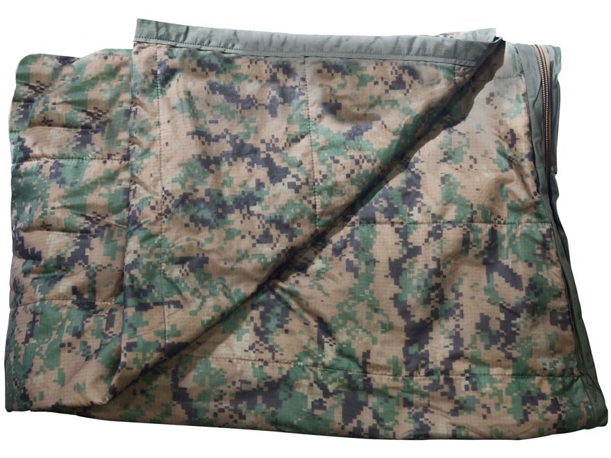 Military Surplus Zippered Poncho Liner Grade 2 Marpat Camo