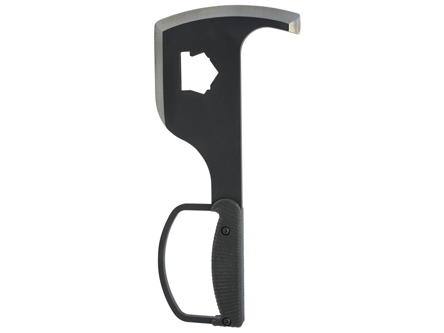 "Pro Tool Rescue Axe 7.75"" 1075 High Carbon Steel Black Powder Coated Blade Black G-10 H..."