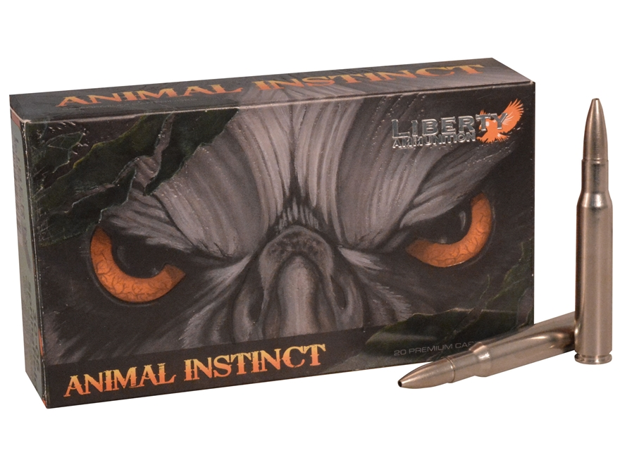 Liberty Animal Instinct Hunting Ammunition 30-06 Winchester 100 Grain Fragmenting Hollo...