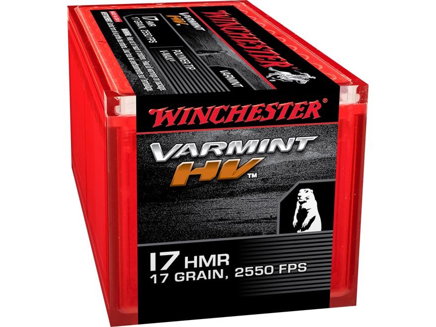 Winchester Ammunition 17 Hornady Magnum Rimfire (HMR) 17 Grain Hornady V-Max Box of 50
