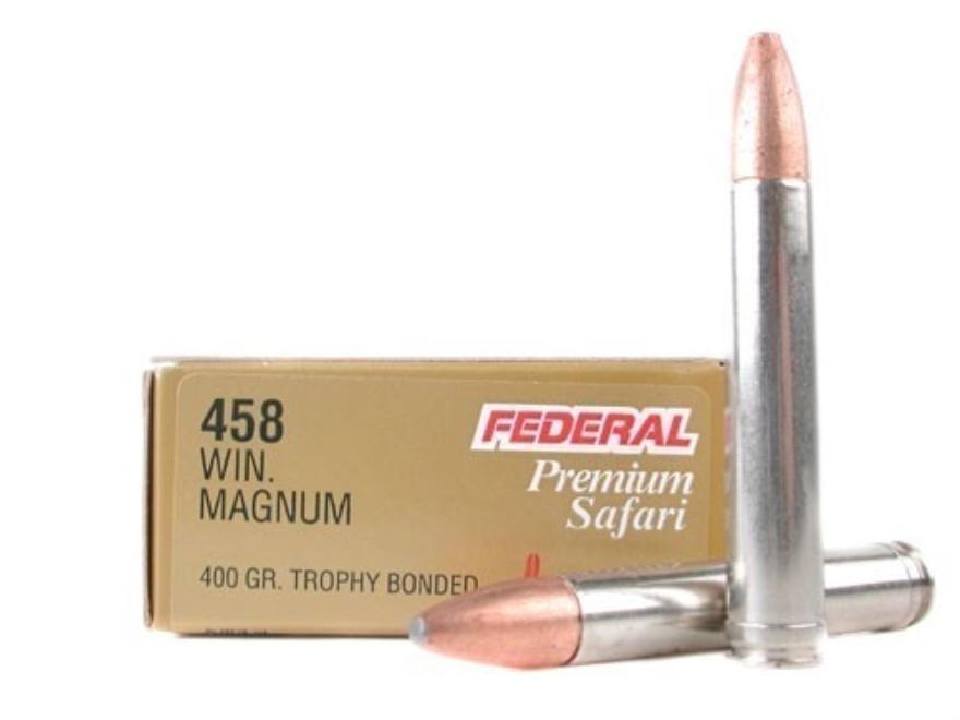 Federal Premium Cape-Shok Ammunition 458 Winchester Magnum 400 Grain Speer Trophy Bonde...