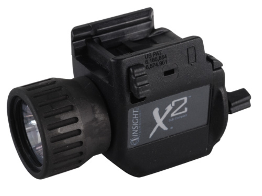 Insight Tech Gear X2 Tactical Illuminations Flashlight  Slide Lock Mount Black