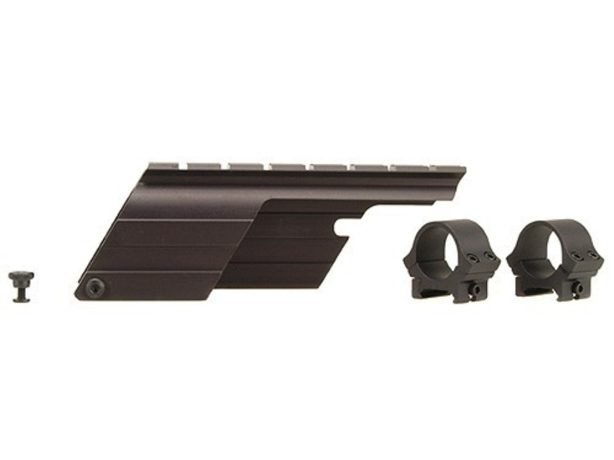 "B-Square Shotgun Saddle Mount with 1"" Rings Mossberg 500 12 Gauge Matte"